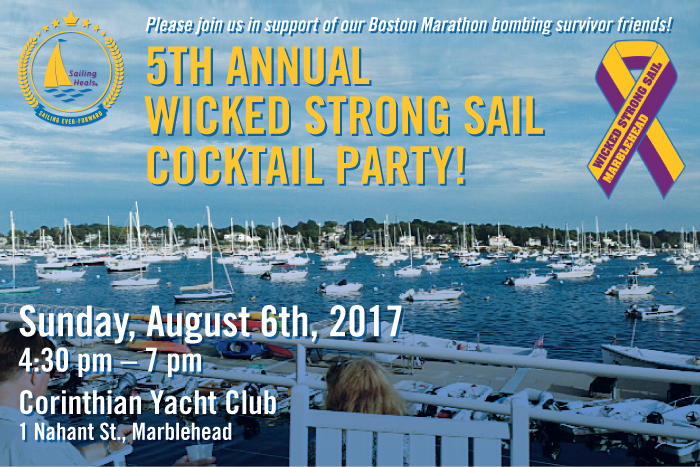 Sailing Heals - 5th Annual Wicked Strong Sail Cocktail Party - August 6th, 2017