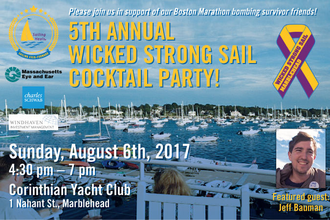 Sailing Heals - 2017 Wicked Strong Cocktail Party - August 6th