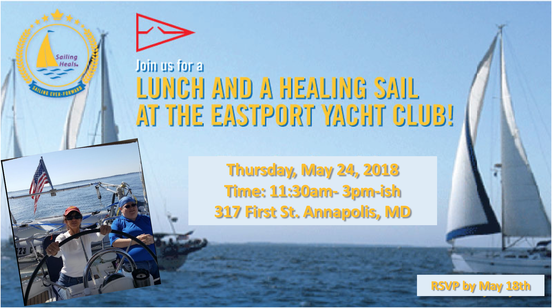 5/24/18 Healing Sail and Lunch in Annapolis, MD