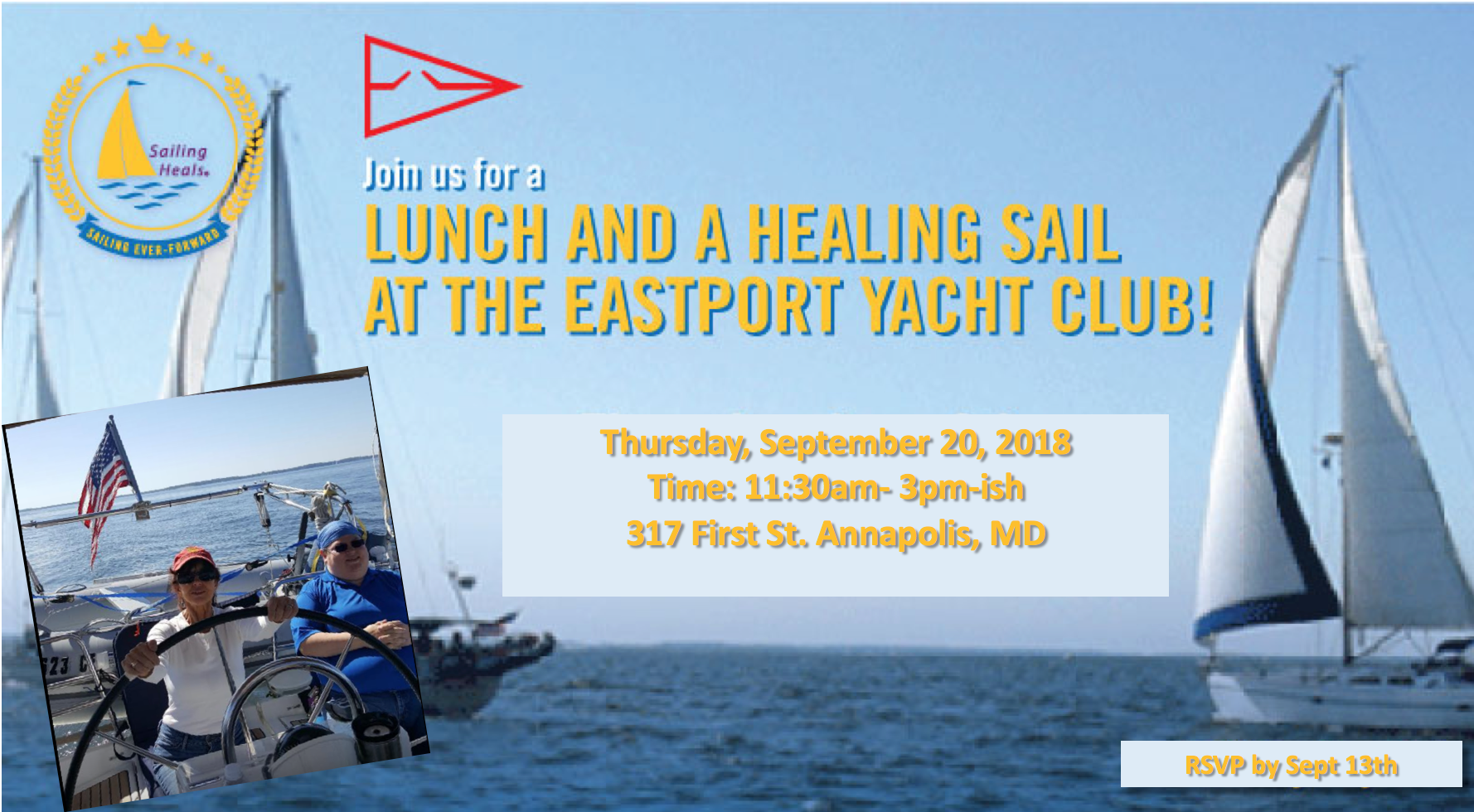9/20/18 Eastport Yacht Club, Annapolis lunch and sail