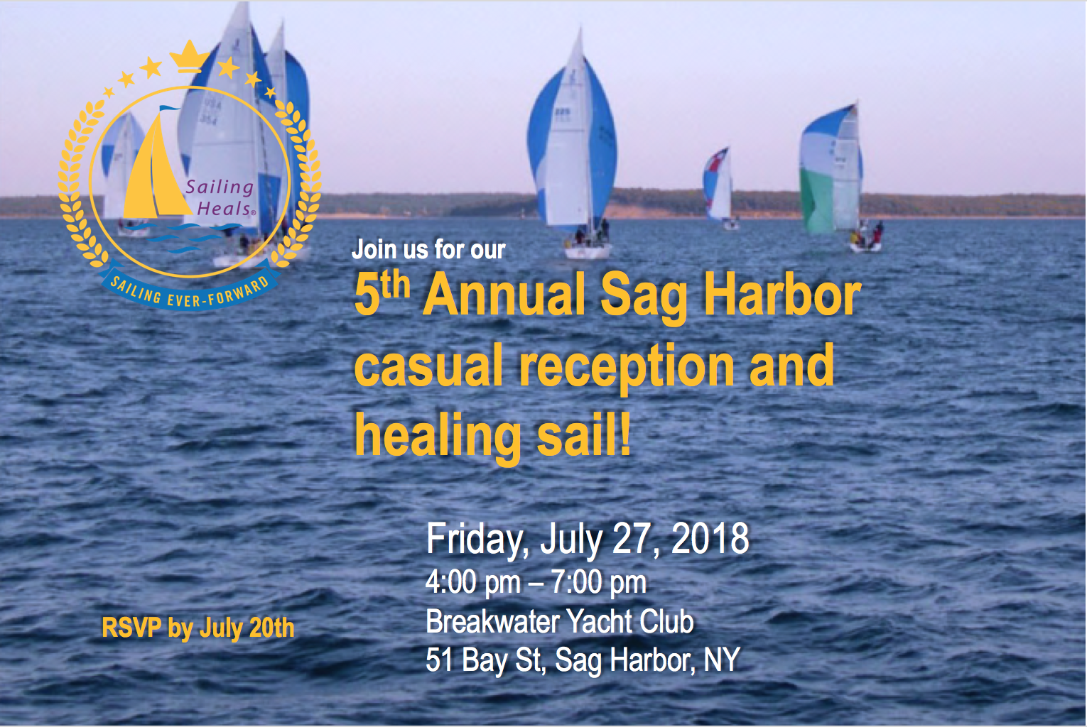 7/27/18 Sag Harbor Healing sail and casual reception.