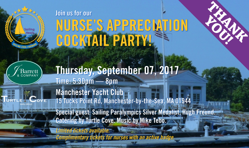 Sailing Heals - Nurse's Appreciation Cocktail Party - September 7th, 2017