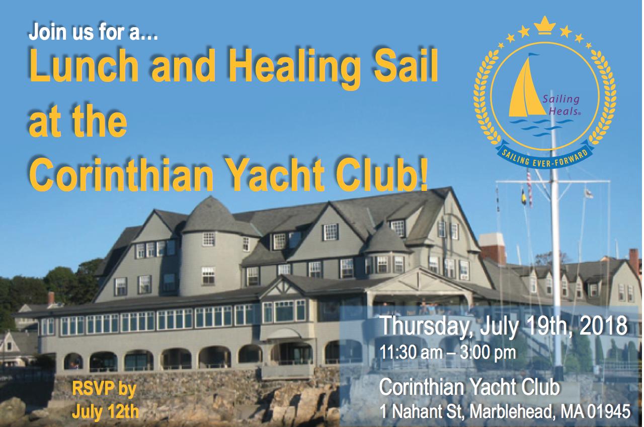 7/19/18 Corinthian Yacht Club Lunch and Healing Sail