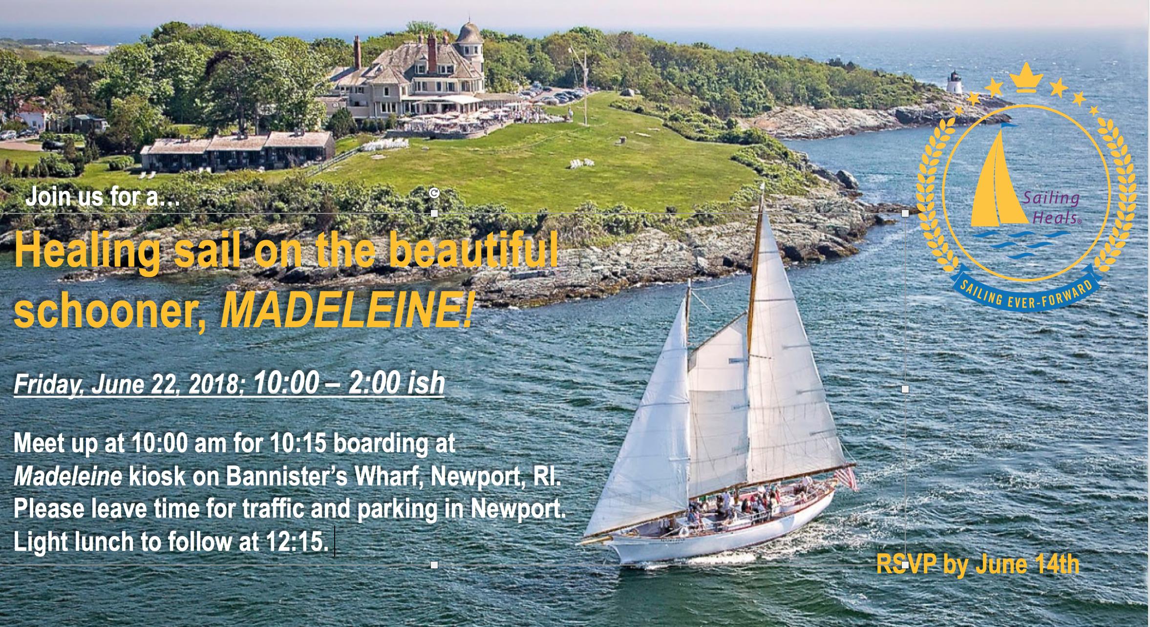 6/22/18 Madeleine healing sail