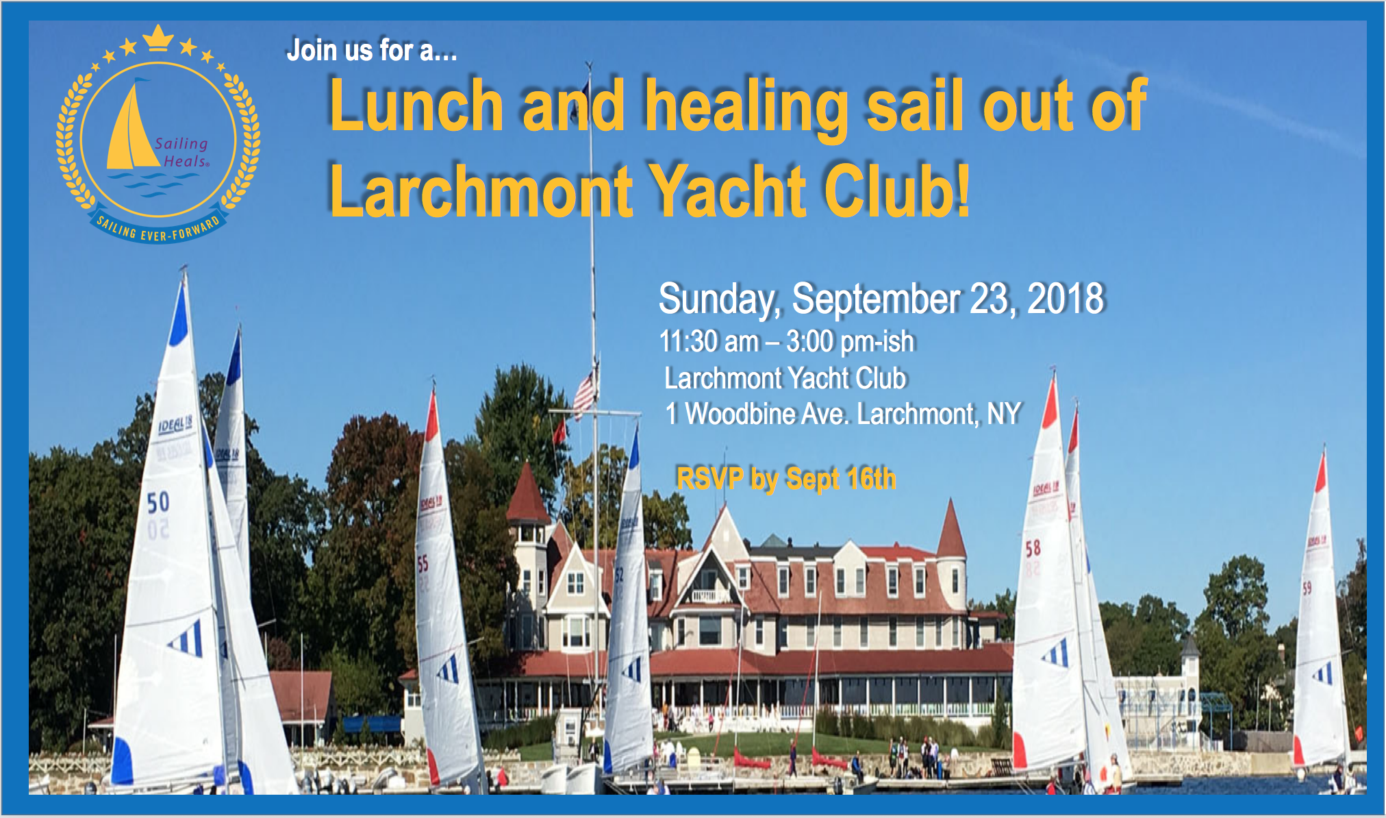 9/23/18 Larchmont lunch and healing sail