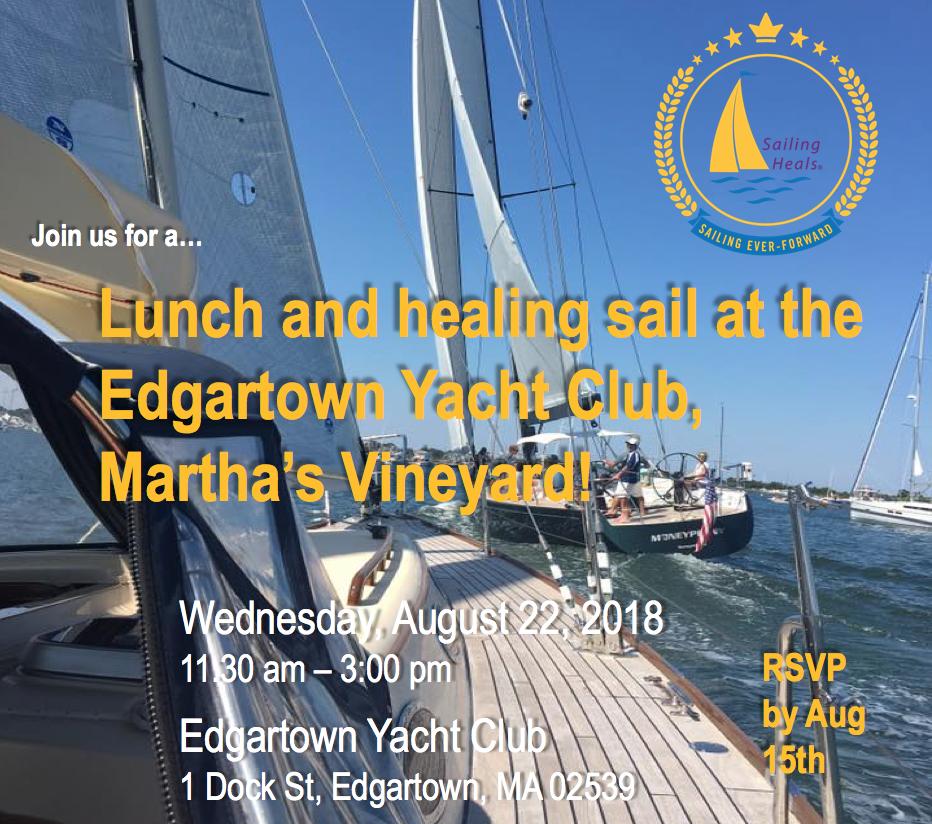 8/22/18 Edgartown lunch and healing sail
