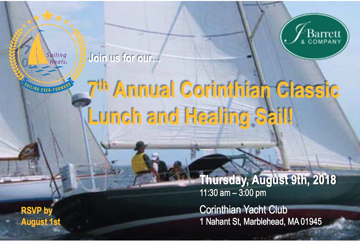 8/9/2018 Corinthian Classic Lunch and Healing Sail