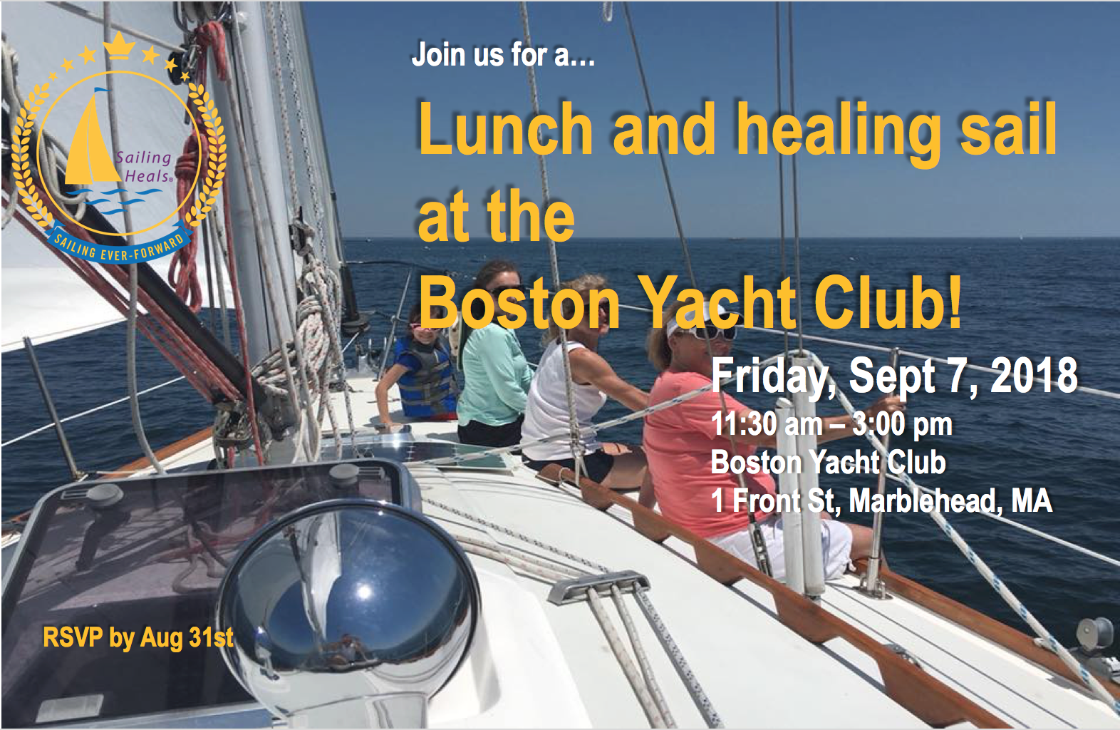 9/7/18 Boston Yacht Club Healing Sail