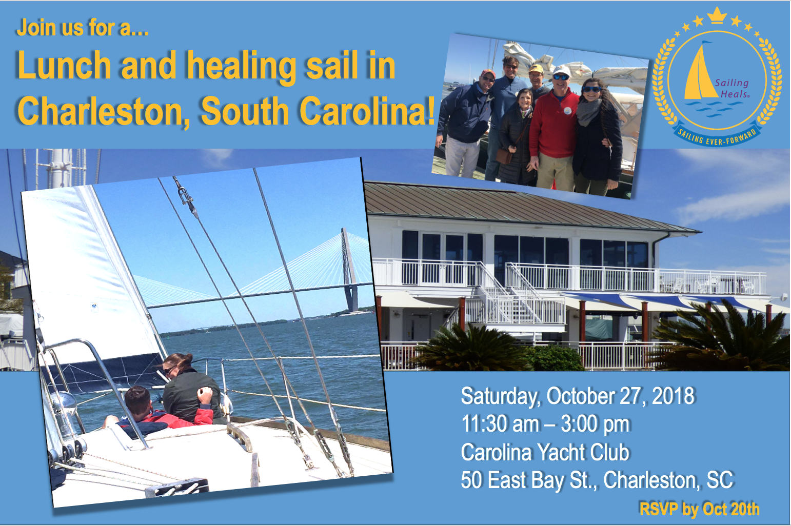 10/27/18 Carolina Yacht Club healing sail