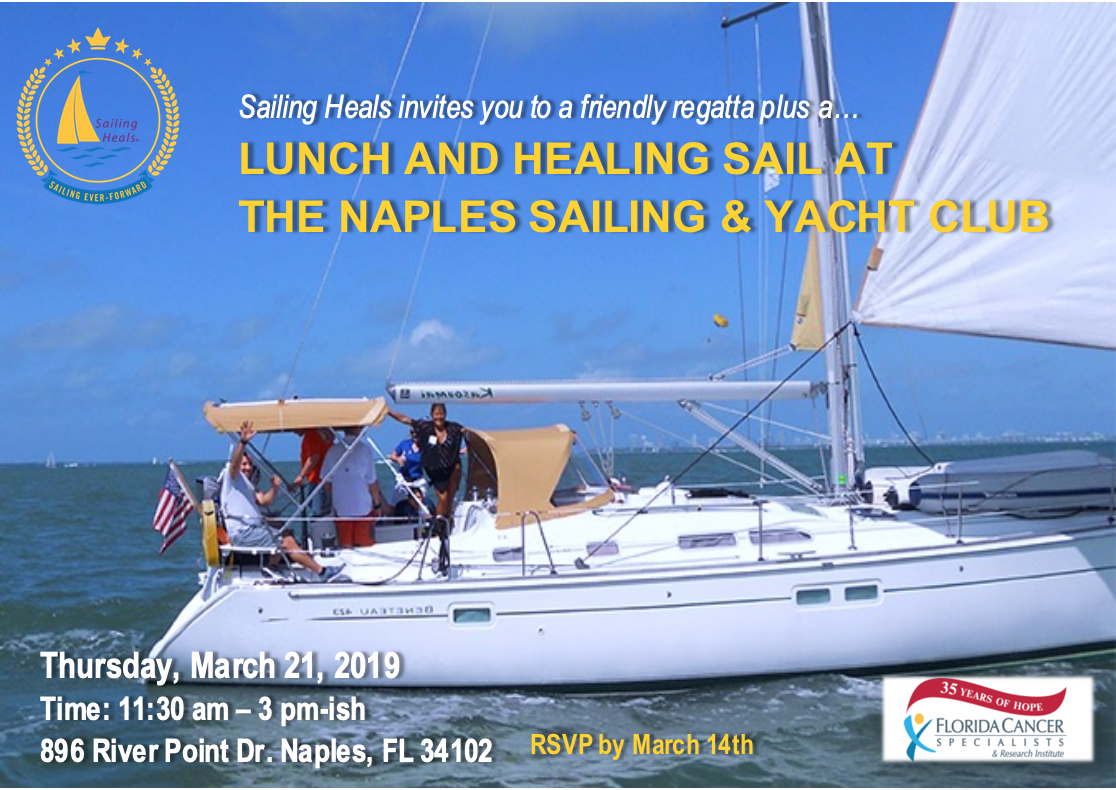 3.21.19 Naples Sailing and Yacht Club Lunch and Healing Sail