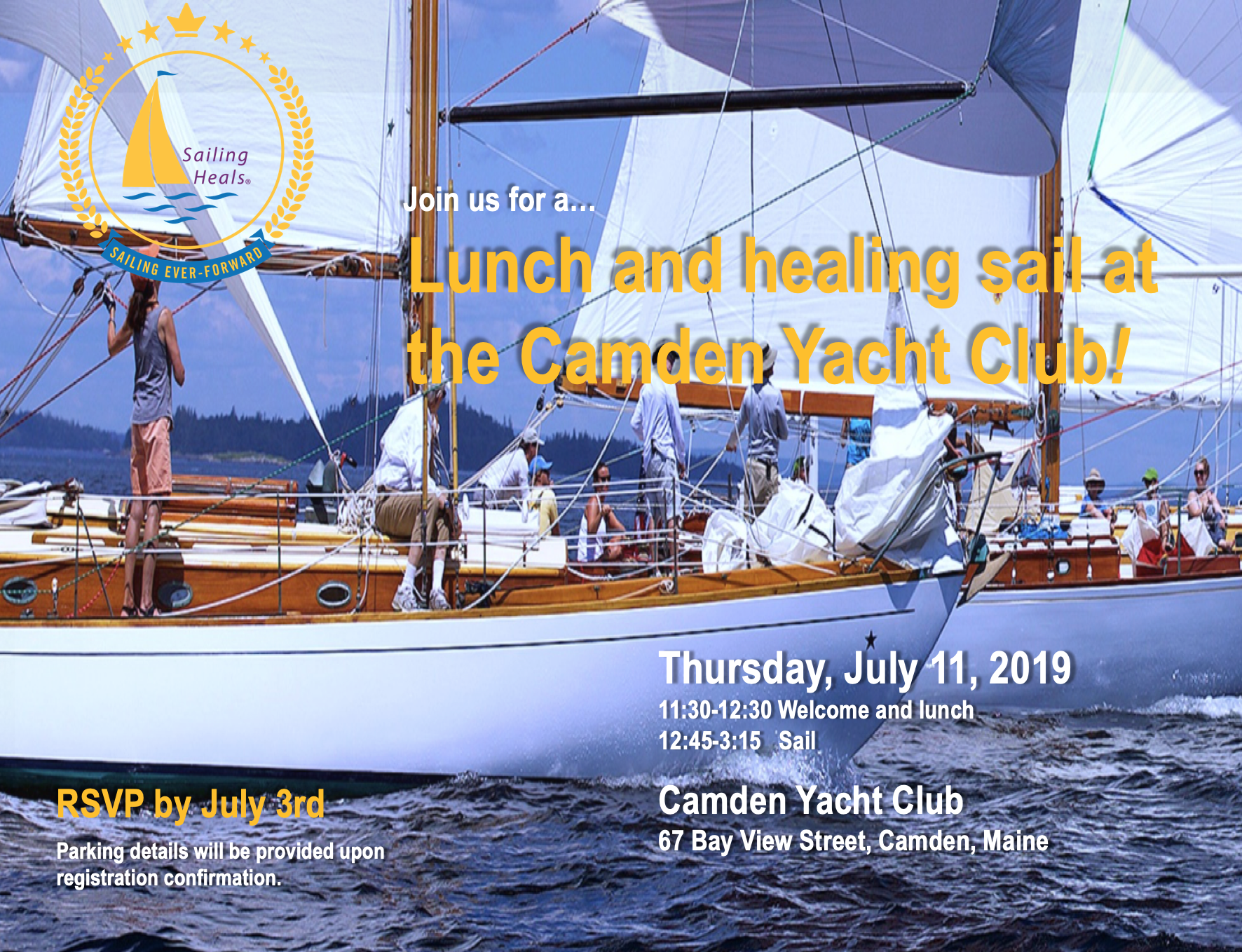 7.11.19 Camden Yacht Club Lunch and healing sail