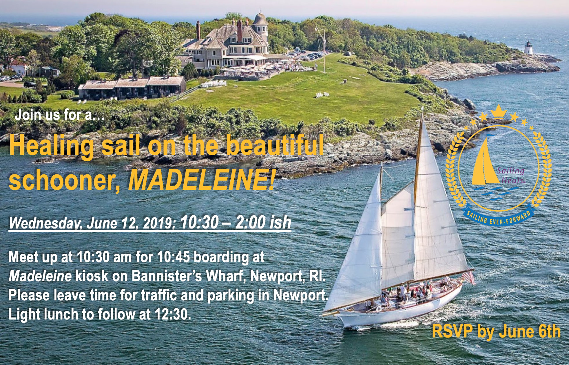 6.12.19 Madeleine lunch and healing sail