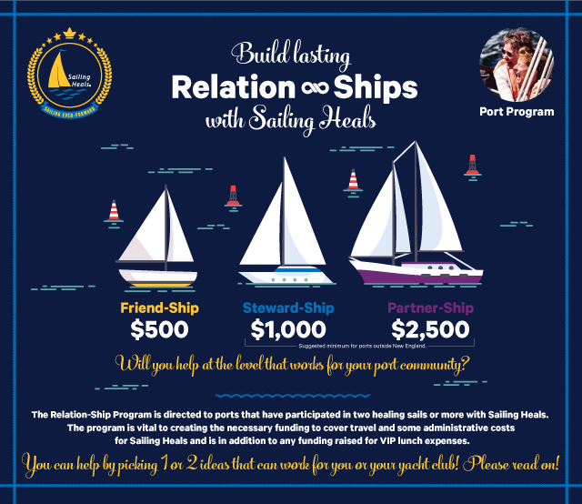 Build Lasting Relation-Ships with Sailing Heals - Port Program